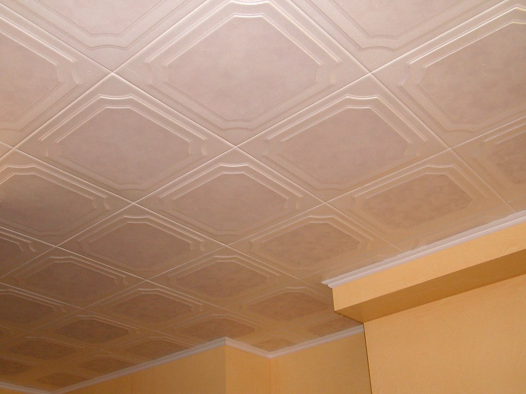 Tin Ceiling Over Kitchen Island