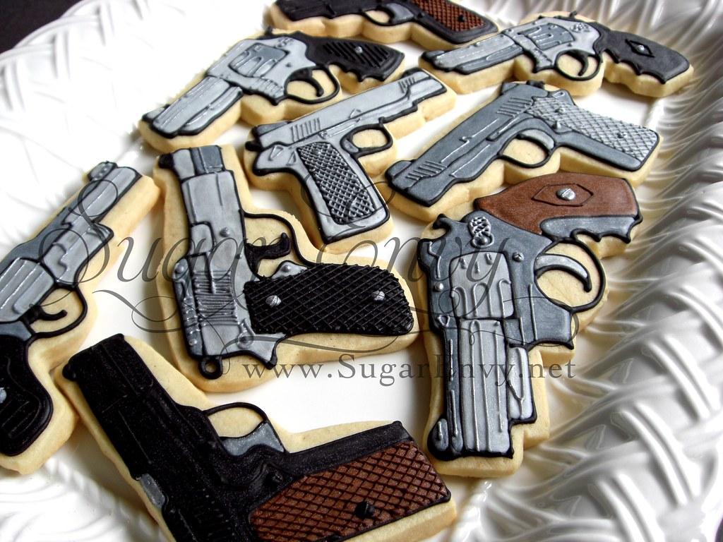Hand Gun Cake Pan