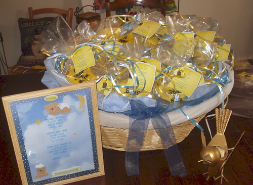star is born cookie favor basket for baby shower by