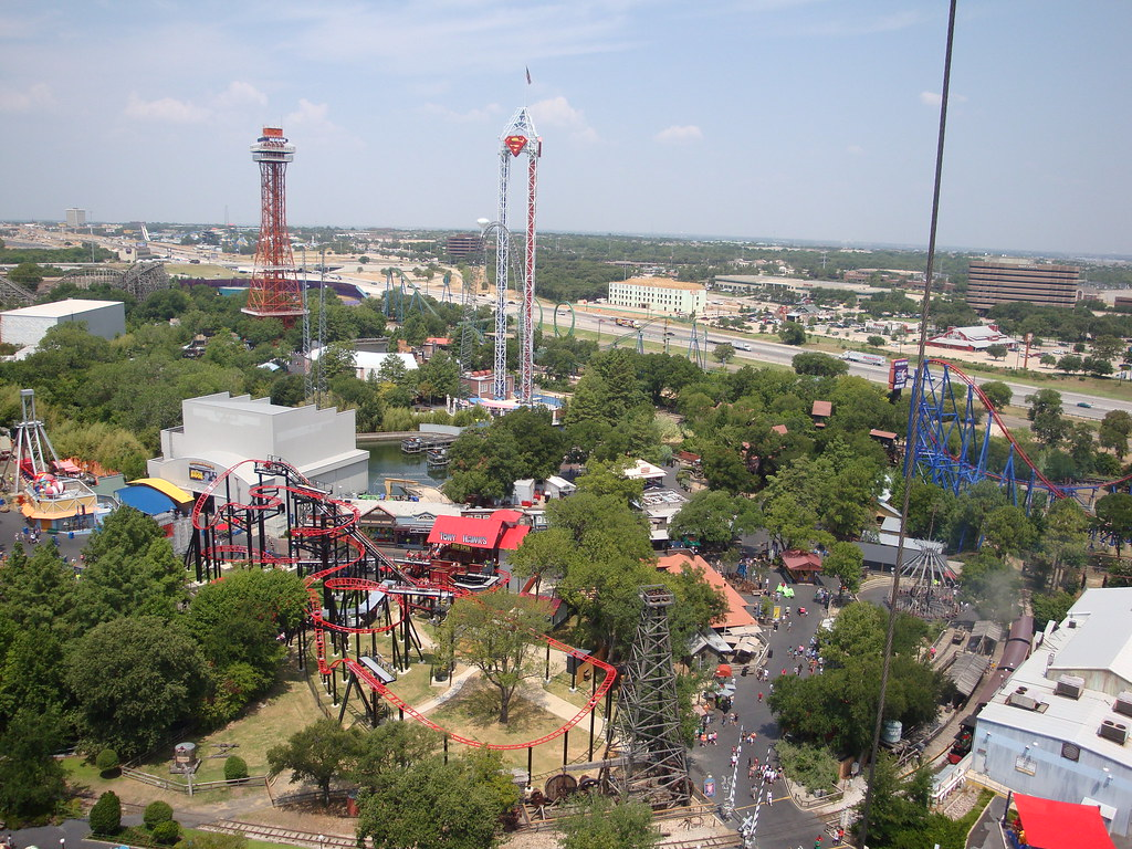 Overview Of Six Flags Over Texas Wes Jackson Flickr