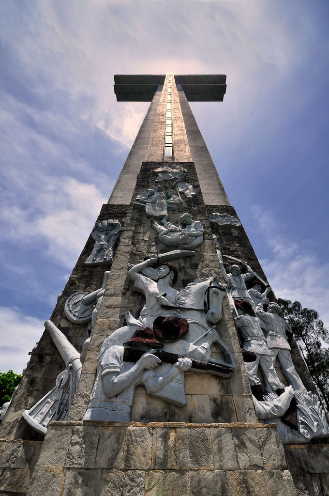The Bataan Cross Mount Samat Is A Mountain In The Town