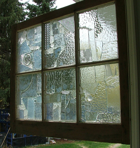 Translucent Bathroom Windows: This Is A Glass Mosaic On An Old Window That I