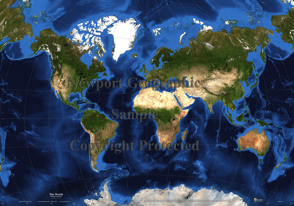 The World Topography Bathymetry Van Der Grinten Flickr - World topography