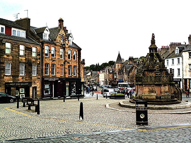 Mercat Cross, Linlithgow, Scotland.