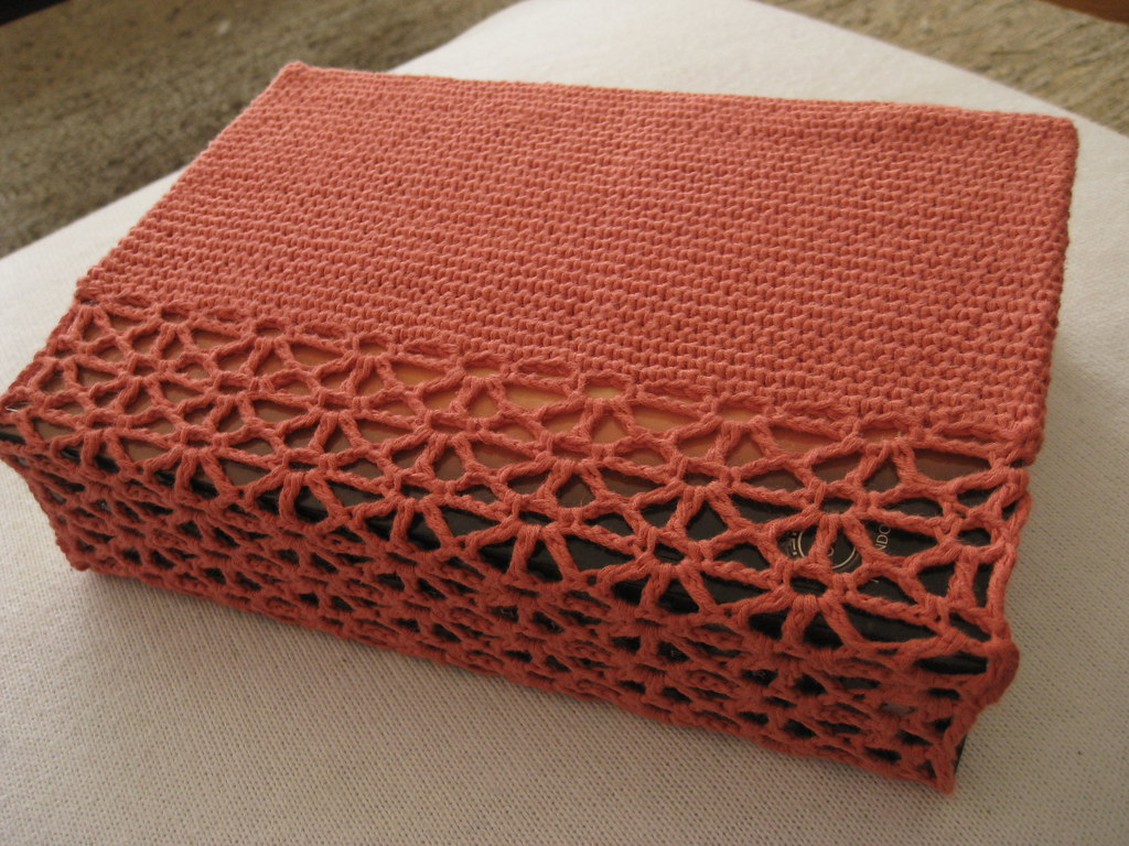 Book Cover Crochet Quilt ~ Bookcover  new model rosa e chocolat flickr