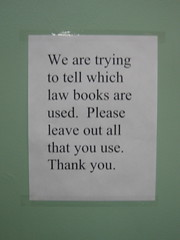 leave your books out