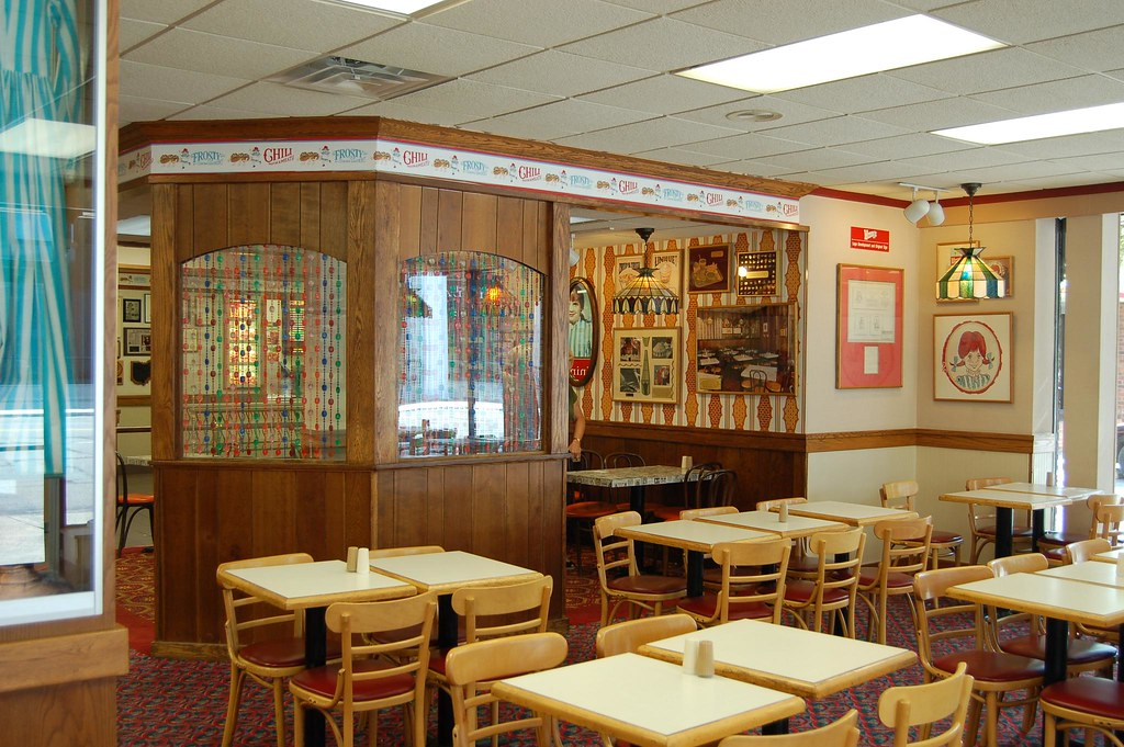 The first wendy s  here is interior of