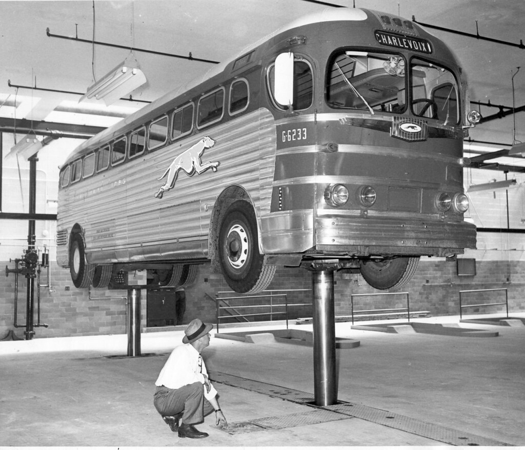Bus Inspection Circa 1940s Photographer Unknown Go