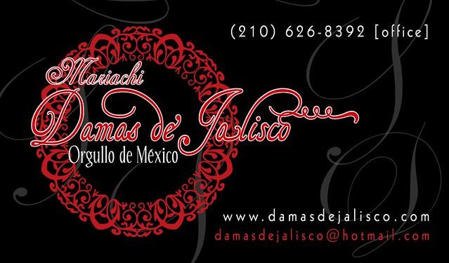 Mariachi Damas De Jalisco New Business Card Front Copy Flickr