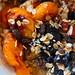 Stewed dried fruits with granola and Greek yogurt