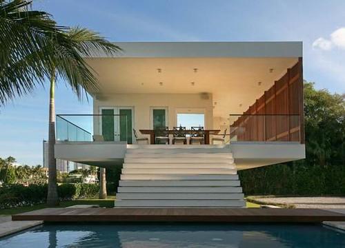 01 okto modern villa front facade design okto villa by for Facade villa moderne