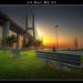 Lisboa - Sunrise on Vasco da Gama Bridge :: HDR