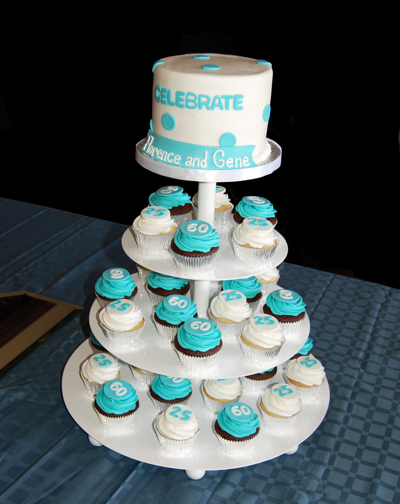 Tiffany Blue And White 25th Wedding Anniversary And 60th B