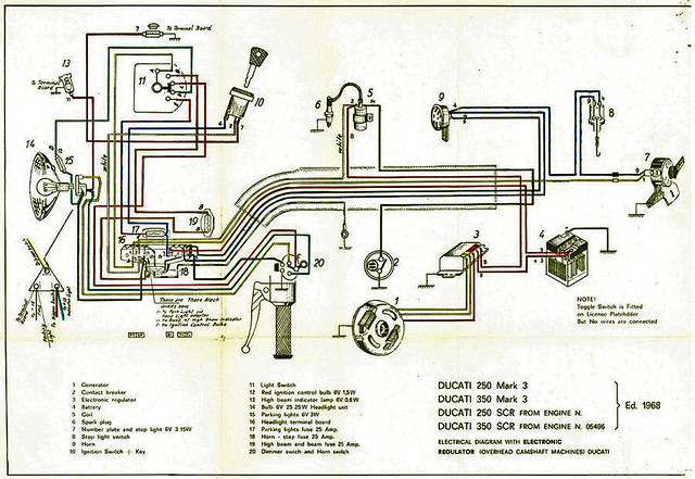 ducati 350 bevel single wiring diagram very important not flickr rh flickr com Electrical Wiring Diagrams Magneto Wiring-Diagram