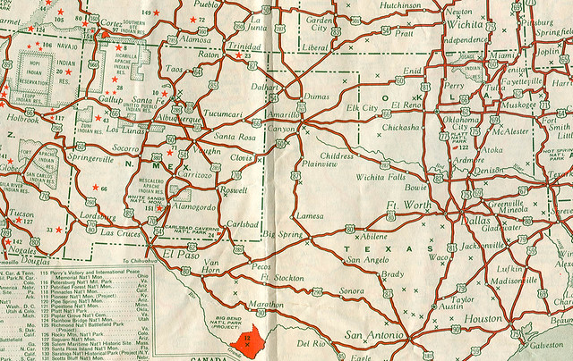 US Highways In The Late S Seems So Strange To Not S Flickr - Us road map 1930