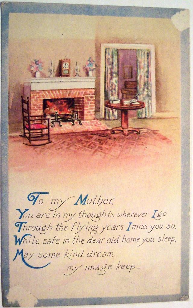 Vintage Postcard - Mother's Day | Dave | Flickr