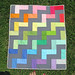 simplified rainbow quilt