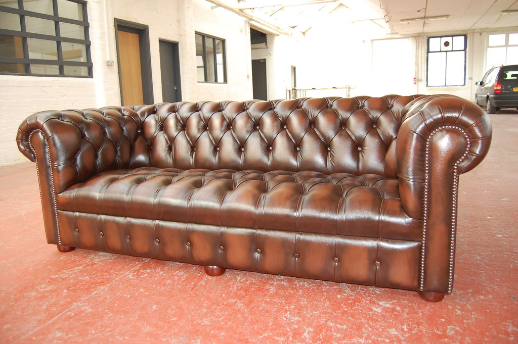 Brown Chesterfield Sofa Bed
