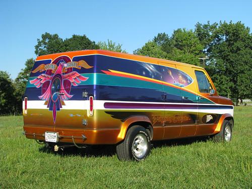 Flying Eagle II, airbrushed custom van | Originally done ...
