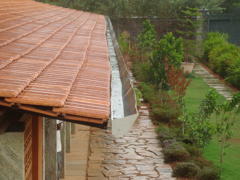 Gutter For Rooftop Rwh Photos Of Rainwater Harvesting