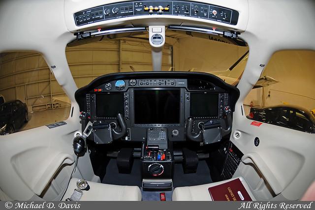 Private Socata Tbm-700 N850Vm Cockpit  Glass