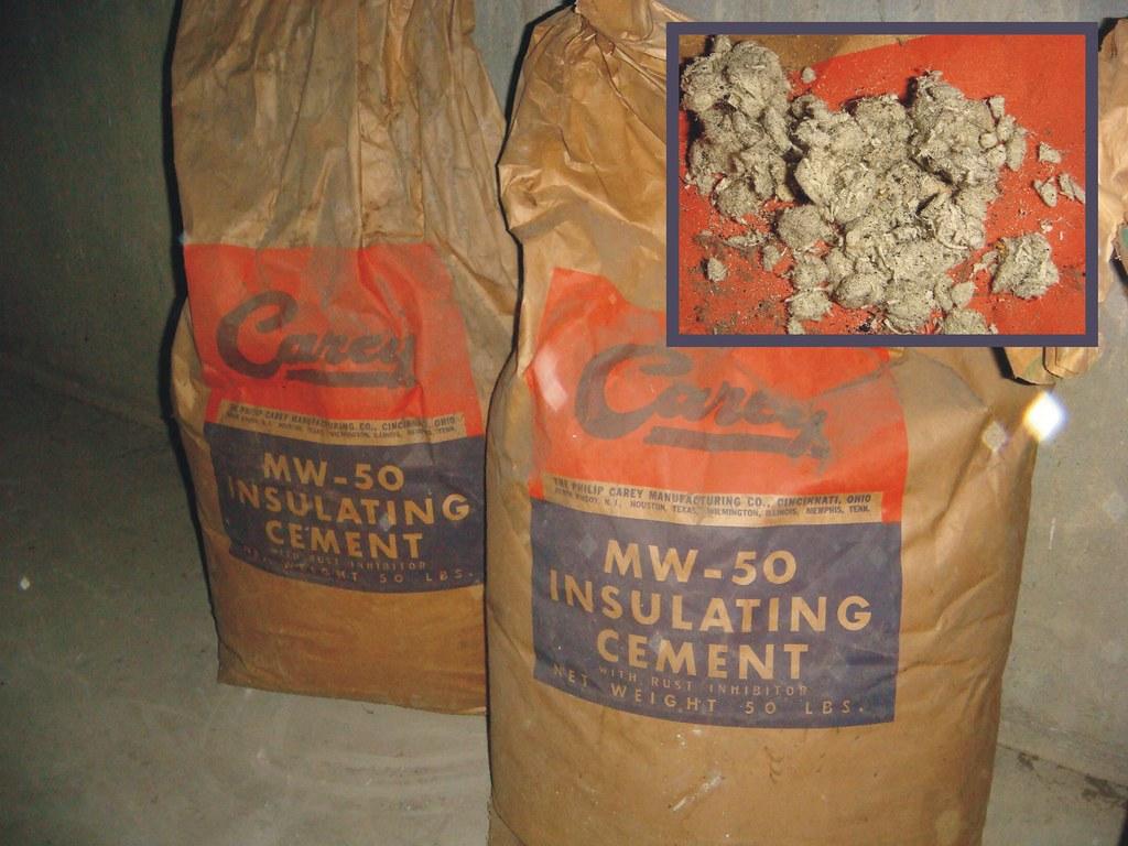 Carey Mw 50 Asbestos Insulation Full Bags Two Original