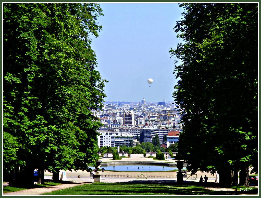 Parc de saint cloud paris le ballon captif du jardin and flickr for Jardin porte de saint cloud
