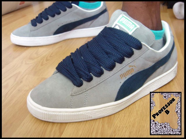 Puma Suede Grey Blue