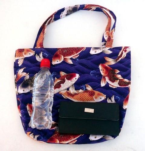 Purple koi fish purse these koi fish can 39 t wait to swim for Koi fish purse