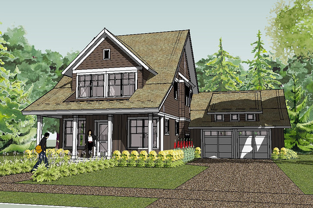 Bayport Bungalow House Plan Rendering | House Designed by ...