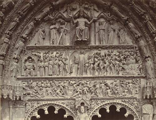 Bourges Cathedral Portal, The Last Judgement | by Cornell University Library