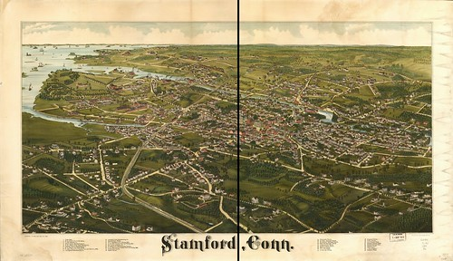 View of Stamford, Conn. 1883. (Petersen Collection) | by uconnlibrariesmagic