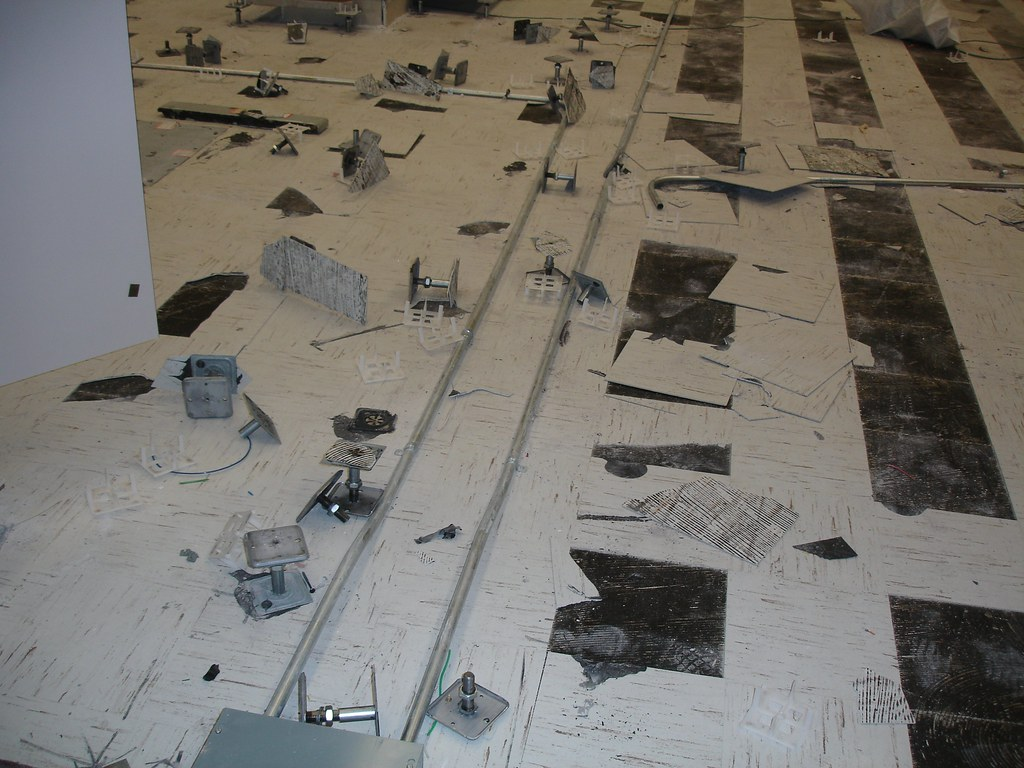 Asbestos Mastic Platform Floor Brackets Example Of