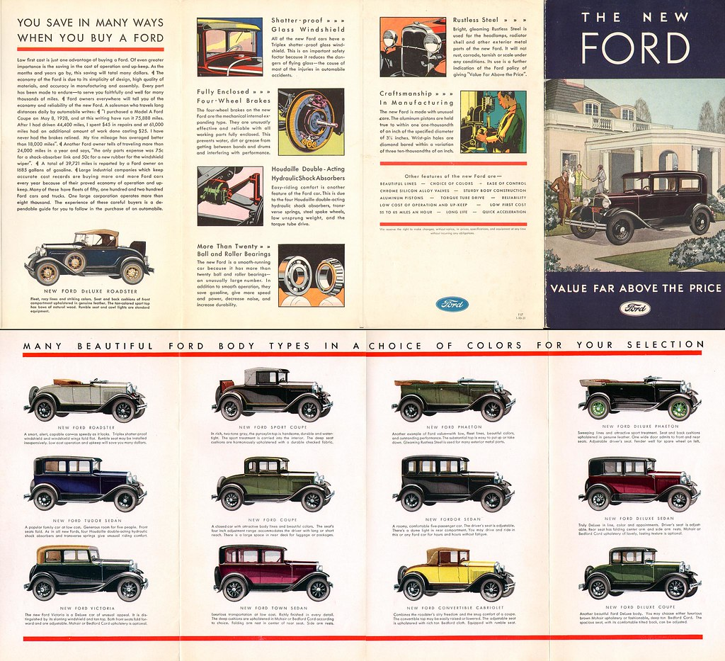 The New Ford Value Far Above The Price 1931 Model A For