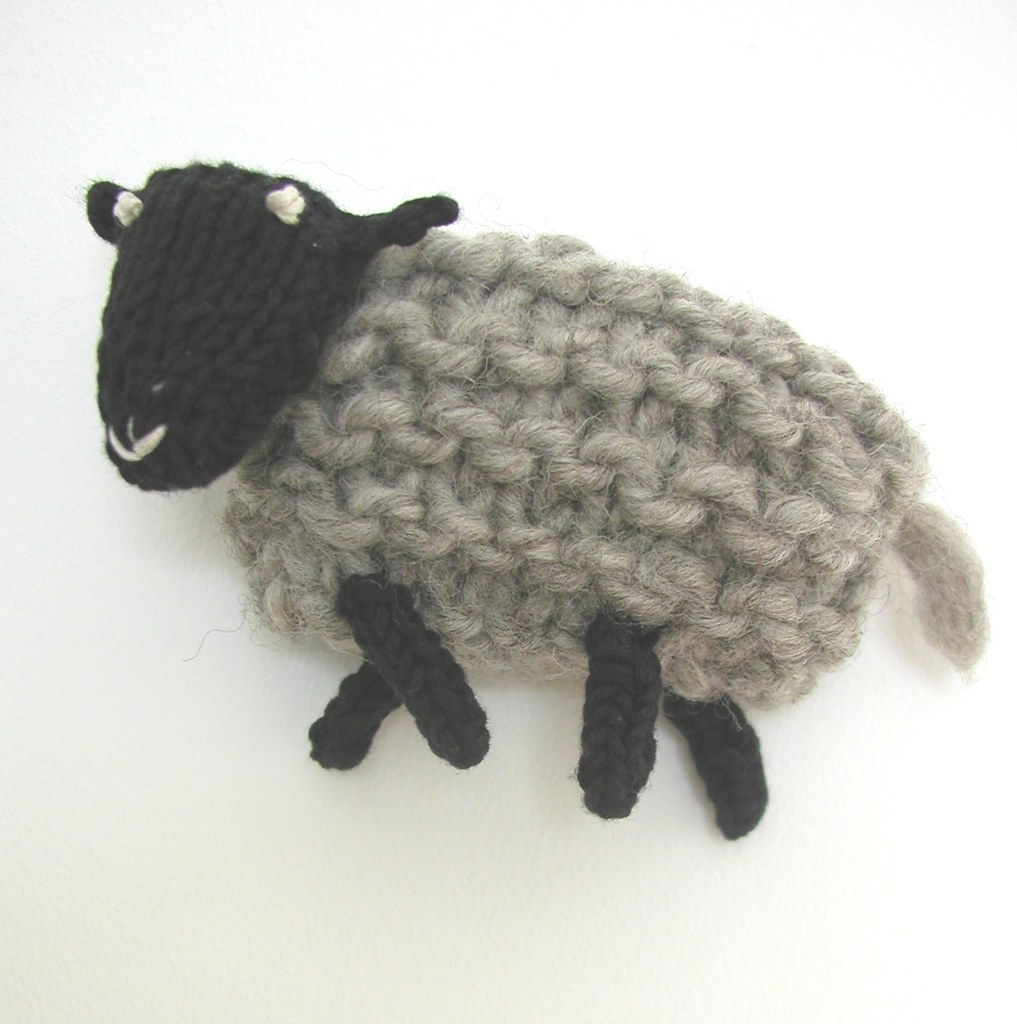 Grey Suffolk Sheep A Hand Knitted Things Design