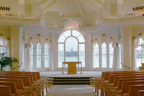 Inside The Wedding Chapel At Walt Disney World