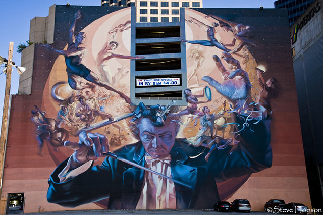 The mind of an artist symphonic mural in dallas for Dallas mural artists
