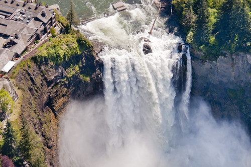 Aerial view of Snoqualmie Falls | by Puget Sound Energy