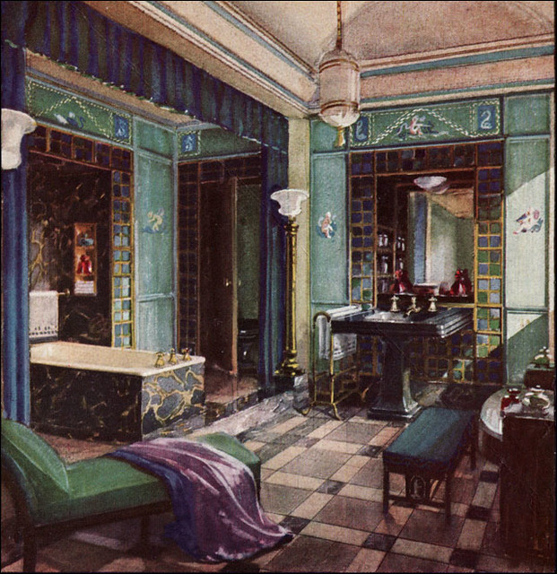 1929 opulent crane bathroom early in the 1920s for Bathroom ideas 1920 s