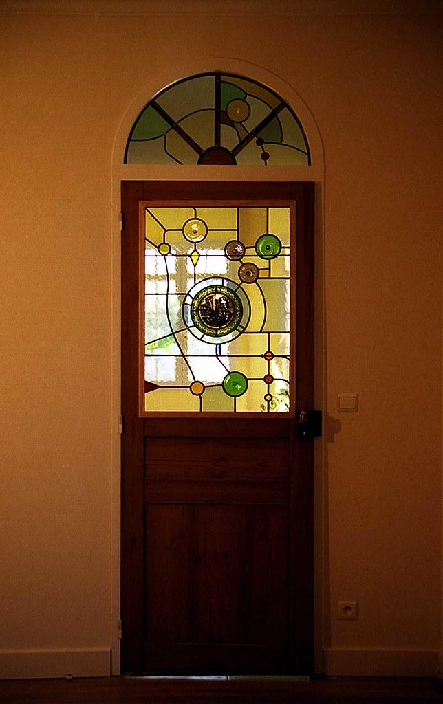 Vitrail porte intérieure avec imposte   Vitrail Création Uni…   Flickr