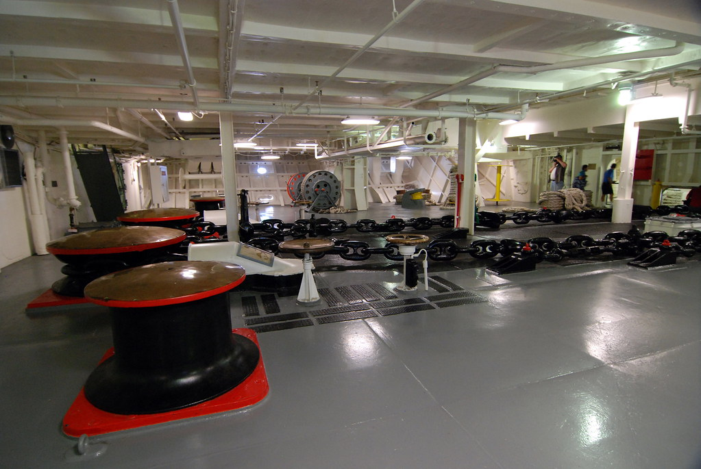 Anchor Windlass Room The Uss Intrepid Cv 11 An Essex
