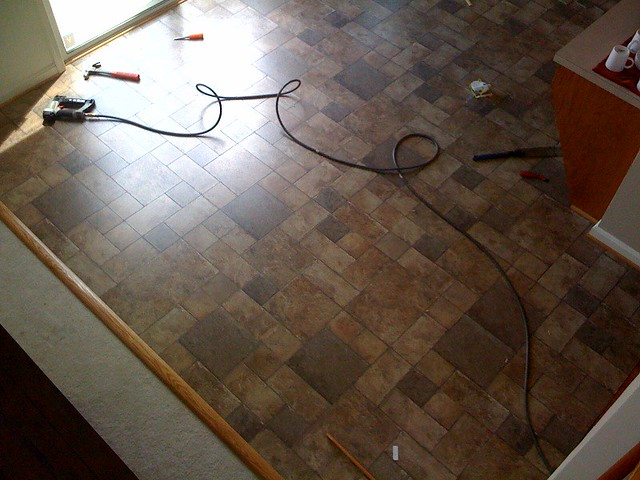New Kitchen Floors They Re Still In Progress But Just