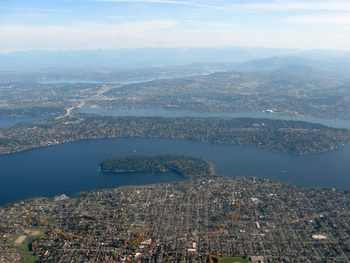 Aerial view of Seward Park and Mercer Island in Seattle 1 | by D Coetzee