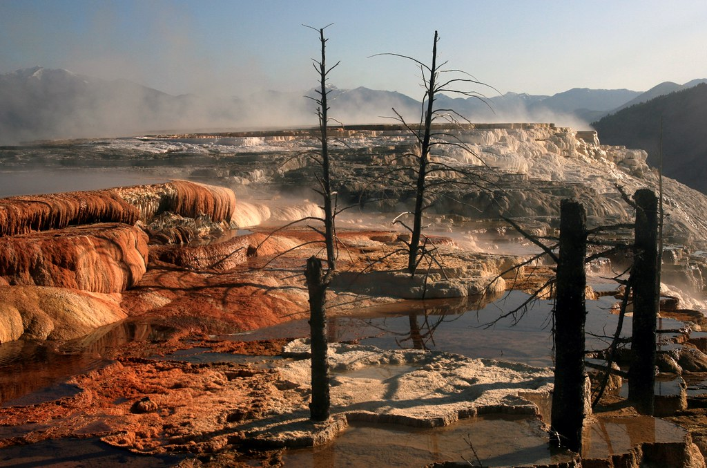 Nature mammoth hot springs yellowstone national park for Trodel mobel