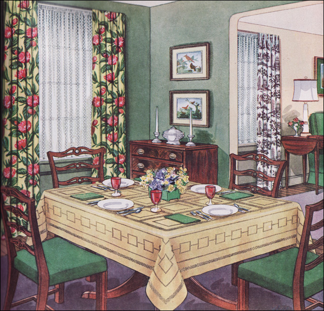 1950s Traditional Dining Room | Craftspun was product line b… | Flickr