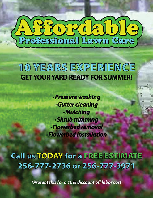 Lawn care flyer flickr photo sharing for Garden maintenance flyers