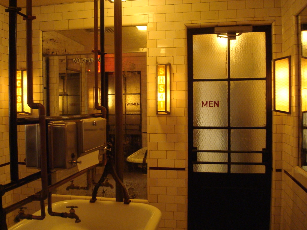 Schiller 39 s liquor bar restroom debbie galant flickr for Bathroom design restaurant