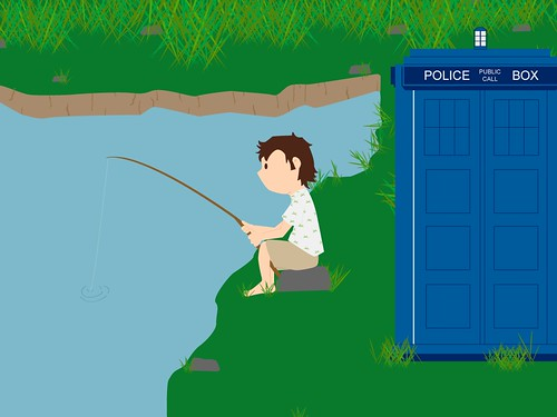 The Doctor Fishing | by Alejandra Gamgeek from Gallifrey