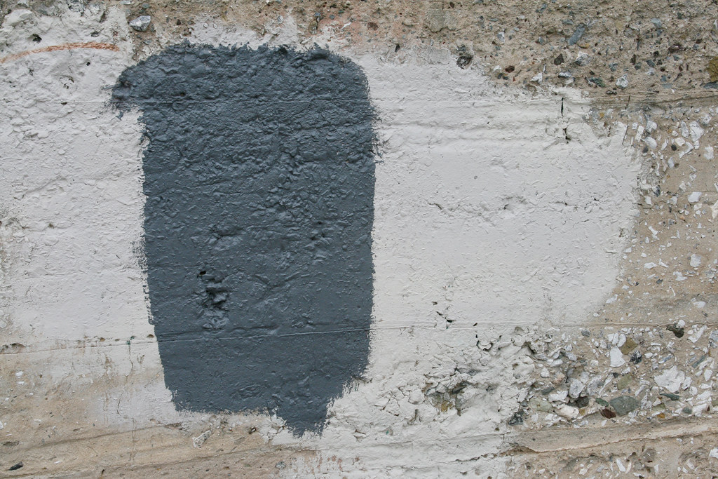 Cement Gray Paint : Concrete wall with gray and white paint by sherrie thai