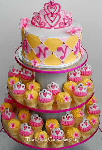 Princess Cupcake Tower for Anya!  Princess themed cupcake t ...
